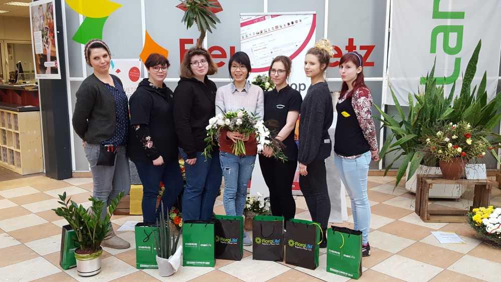 Hallenser Azubis beim Juniorflorist Leipzig dabei